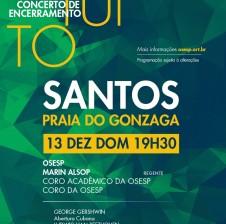 OSESP realiza concerto de encerramento em Santos
