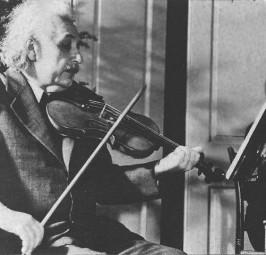 Einstein e a relação com a música
