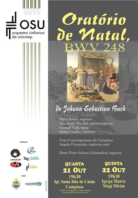 'Sinfônica da Unicamp' apresenta 'Oratório de Natal', de Bach